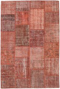 Patchwork Rug 158X233 Authentic  Modern Handknotted Dark Red/Light Brown (Wool, Turkey)