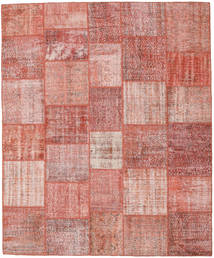 Patchwork Rug 251X303 Authentic  Modern Handknotted Light Pink/Rust Red Large (Wool, Turkey)