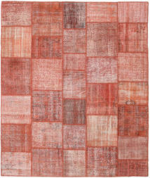 Patchwork Rug 251X298 Authentic  Modern Handknotted Dark Red/Light Pink Large (Wool, Turkey)