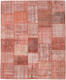 Patchwork Rug 251X303 Authentic  Modern Handknotted Light Pink/Dark Red Large (Wool, Turkey)