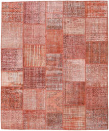 Patchwork Rug 252X303 Authentic  Modern Handknotted Dark Red/Light Pink Large (Wool, Turkey)