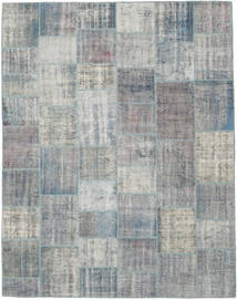 Patchwork Rug 241X305 Authentic  Modern Handknotted Light Grey/Turquoise Blue (Wool, Turkey)
