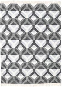 Aino Rug 140X200 Authentic  Modern Handwoven Dark Grey/Beige/Light Grey (Wool/Bamboo Silk, India)