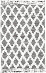 Inez - Dark Brown/White Rug 140X200 Authentic  Modern Handwoven Light Grey/Beige (Wool, India)