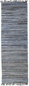 Sonja Mix - Denim/Jute Rug 80X250 Authentic Modern Handwoven Hallway Runner Dark Grey/Light Blue (Jute Rug India)