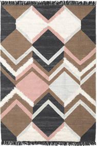 Silvana - Soft Pink Rug 200X300 Authentic  Modern Handwoven Dark Grey/Brown (Wool, India)