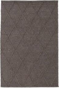 Svea - Dark Brown Rug 140X200 Authentic  Modern Handwoven Dark Grey/Dark Brown (Wool, India)
