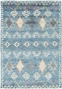 Zaurac - Blue Grey Rug 140X200 Authentic  Modern Handknotted Light Blue/Light Grey (Wool, India)
