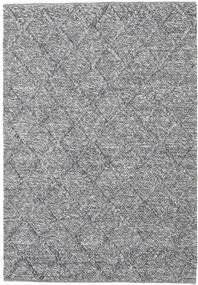 Rut - Dark Grey Melange Rug 140X200 Authentic  Modern Handwoven Light Grey/Light Blue (Wool, India)