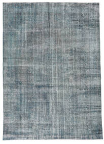 Colored Vintage Rug 226X318 Authentic  Modern Handknotted Blue/Light Grey (Wool, Turkey)