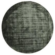 Brooklyn - Moss Green Rug Ø 200 Modern Round Dark Green/Black ( India)