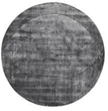 Brooklyn - Stormy Grey Rug Ø 300 Modern Round Dark Grey/Light Grey Large ( India)