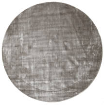 Broadway - Soft Grey Rug Ø 300 Modern Round Light Grey/Dark Grey Large ( India)