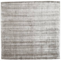 Broadway - Soft Grey Rug 250X250 Modern Square Light Grey Large ( India)