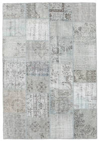 Patchwork Rug 160X232 Authentic  Modern Handknotted Turquoise Blue/Light Grey (Wool, Turkey)