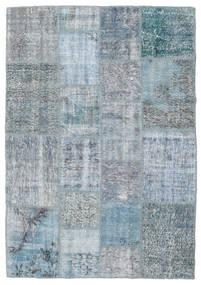 Patchwork Rug 138X201 Authentic  Modern Handknotted Light Blue/Light Grey (Wool, Turkey)