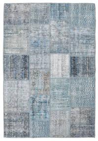 Patchwork Rug 137X201 Authentic  Modern Handknotted Light Blue/Light Grey (Wool, Turkey)