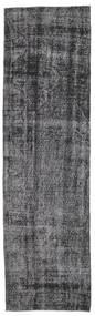 Colored Vintage Rug 80X285 Authentic  Modern Handknotted Hallway Runner  Dark Grey/Black (Wool, Turkey)