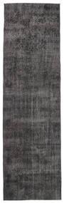 Colored Vintage Rug 91X312 Authentic  Modern Handknotted Hallway Runner  Brown/Black (Wool, Turkey)