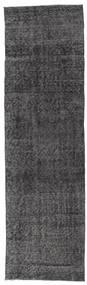 Colored Vintage Rug 80X281 Authentic  Modern Handknotted Hallway Runner  Dark Grey/Dark Brown (Wool, Turkey)