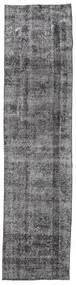 Colored Vintage Rug 80X330 Authentic  Modern Handknotted Hallway Runner  Dark Grey/Light Grey (Wool, Turkey)