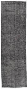 Colored Vintage Rug 81X280 Authentic  Modern Handknotted Hallway Runner  Dark Grey/Dark Brown (Wool, Turkey)
