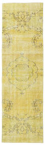 Colored Vintage Rug 81X274 Authentic  Modern Handknotted Hallway Runner  Yellow/Beige (Wool, Turkey)