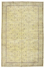 Colored Vintage Rug 184X280 Authentic  Modern Handknotted Beige/Olive Green (Wool, Turkey)