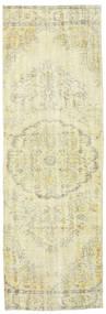Colored Vintage Rug 93X287 Authentic  Modern Handknotted Hallway Runner  Beige/Dark Beige (Wool, Turkey)