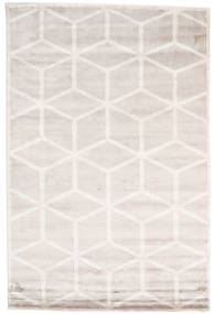 Facets Rug 200X300 Authentic  Modern Handknotted White/Creme/Light Grey/Beige ( India)