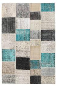 Patchwork Rug 198X303 Authentic  Modern Handknotted Light Grey/Dark Grey (Wool, Turkey)