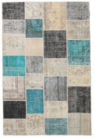 Patchwork Rug 200X301 Authentic  Modern Handknotted Light Grey/Turquoise Blue (Wool, Turkey)