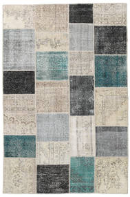 Patchwork Rug 200X302 Authentic  Modern Handknotted Light Grey/Black (Wool, Turkey)