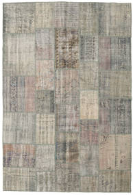 Patchwork Rug 205X304 Authentic  Modern Handknotted Light Grey/Dark Grey (Wool, Turkey)