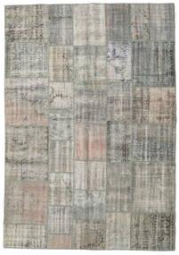 Patchwork Rug 205X294 Authentic  Modern Handknotted Light Grey/Dark Grey (Wool, Turkey)