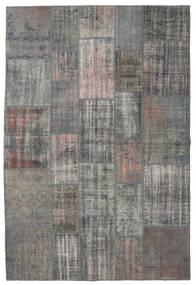 Patchwork Rug 203X303 Authentic  Modern Handknotted Dark Grey/Light Grey (Wool, Turkey)
