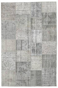 Patchwork Rug 197X301 Authentic  Modern Handknotted Light Grey (Wool, Turkey)