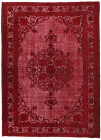Colored Vintage Relief Rug 226X309 Authentic Modern Handknotted Dark Red/Crimson Red (Wool, Turkey)