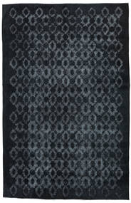 Colored Vintage Relief Rug 211X327 Authentic  Modern Handknotted Dark Blue/Dark Grey (Wool, Turkey)