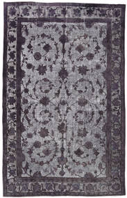 Colored Vintage Relief Rug 206X320 Authentic Modern Handknotted Black/Light Grey (Wool, Turkey)