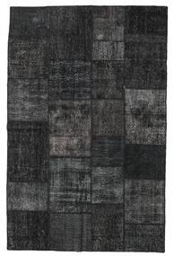 Patchwork Rug 196X304 Authentic  Modern Handknotted Black/Dark Grey (Wool, Turkey)