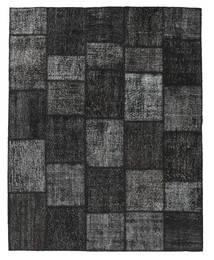 Patchwork Rug 198X249 Authentic  Modern Handknotted Black/Dark Grey (Wool, Turkey)