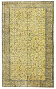 Colored Vintage Rug 166X272 Authentic  Modern Handknotted Light Green/Olive Green (Wool, Turkey)