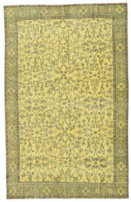 Colored Vintage Rug 183X290 Authentic  Modern Handknotted Yellow/Olive Green (Wool, Turkey)
