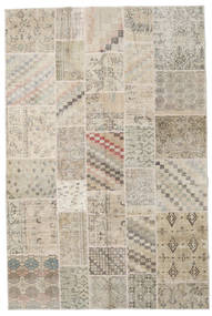 Patchwork Rug 198X300 Authentic  Modern Handknotted Light Grey/Beige (Wool, Turkey)