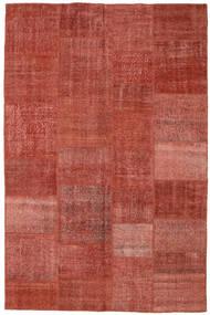 Patchwork Rug 196X304 Authentic  Modern Handknotted Dark Red/Rust Red (Wool, Turkey)