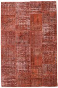Patchwork Rug 196X301 Authentic  Modern Handknotted Dark Red/Rust Red (Wool, Turkey)