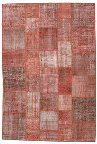 Patchwork Rug 204X301 Authentic  Modern Handknotted Dark Red/Light Pink (Wool, Turkey)