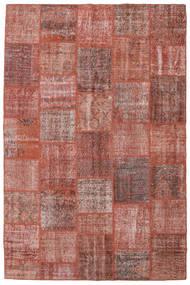 Patchwork Rug 198X301 Authentic  Modern Handknotted Dark Red/Light Pink (Wool, Turkey)
