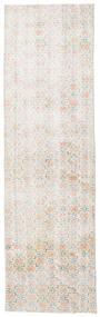 Colored Vintage Rug 86X290 Authentic  Modern Handknotted Hallway Runner  White/Creme/Light Grey (Wool, Turkey)